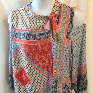 Chico's peek a boo blouse